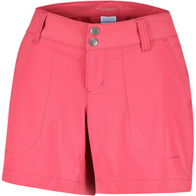 Columbia Saturday Trail Pantalones cortos Mujer, red coral